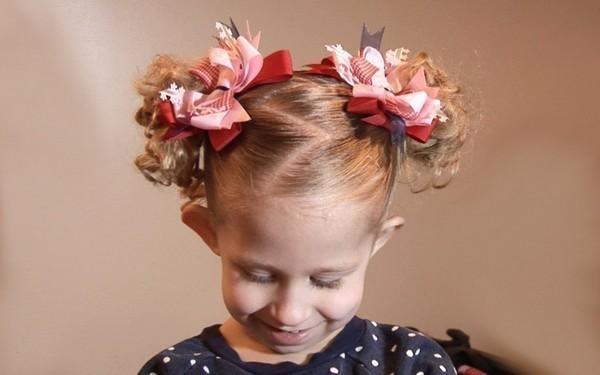 Прически на выпускной в детский сад короткие волосы фото