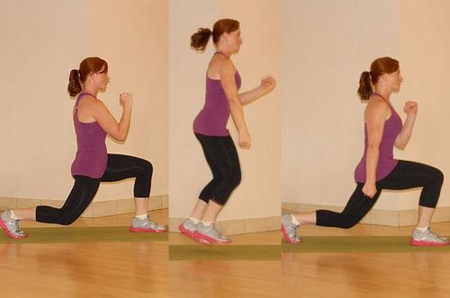 Lunges forward